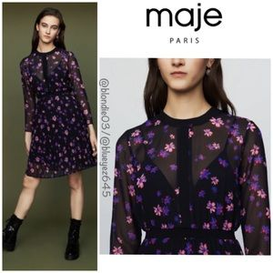 "Maje ""Rivoline"" floral dress 1 (US S)"
